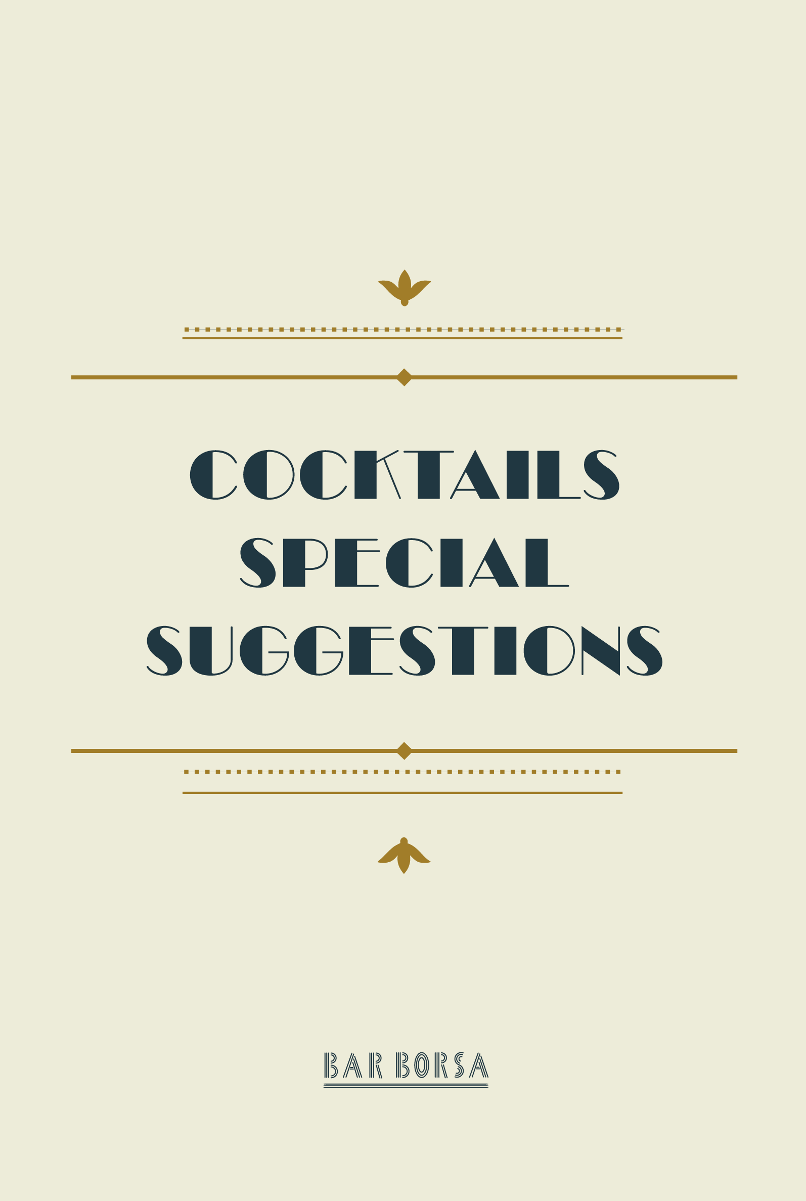 COCKTAILS SPECIAL SUGGESTIONS